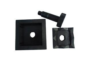 Poinçon  pour Poinçonneuse Hydraulique Perforación Punzonatura 80x80 mm