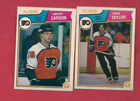 1983-84 OPC  FLYERS LINDSAY CARSON + MARK TAYLOR  ROOKIE  CARD