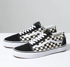 Vans Old Skool Black/White Low Canvas Classic Skate Shoe New In Box - Ships Free