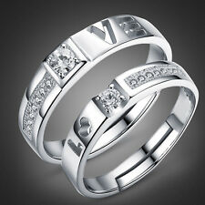 """1 pair hollow """"love"""" Lover`s gifts promise Deeply stainless steel  Couple Rings"""