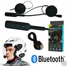 INTERFONO HEADSET MICROFONO AURICOLARE BLUETOOTH IMPERMEABILE PER CASCO MOTO MP3