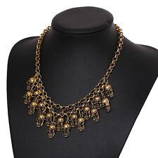 Fashion Necklace Skeleton bronze skull Jewelry Statement Women Choker Necklaces