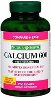 Nature's Bounty Calcium 600 With Vitamin D3 Tablets 250 Tablets (Pack of 4)