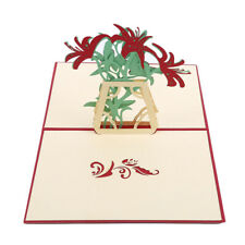 3D Greeting Cards Lilly Flower Handmade Wish Card Paper Craft for Mother's Day H