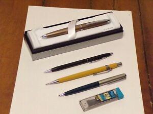 Lot of 4 Vintage Mechanical Pencil CROSS PARKER PENTEL