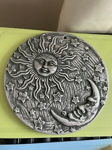 Quality Latex Rubber Mould The sun & Moon Wall Plaque Witches Fairy Garden
