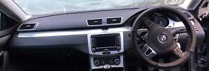 2012 VW PASSAT CC DASHBOARD, STEERING WHEEL CRASHBAG, SEAT BELTS CRASH BAG
