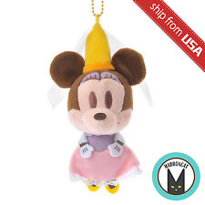 Japan Disney Store Minnie Princess Plush Badge Mascot Keychain US