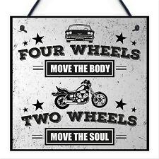 Motorbike Man Cave Hanging Plaque Garage Vintage Gift Motorcycle Sign