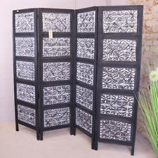 More details for amera screen 4 panel screen room divider mango wood home decor