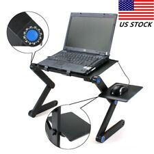 New listing Adjustable Foldable Laptop Notebook Pc Desk Table Vented Stand Bed Tray w/ Fan