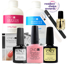 CND Shellac Starter Kit, Top/Base/Essentials/Color Studio White