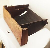Vtg antique Singer 27 treadle sewing machine cabinet wood bottom tiger oak part