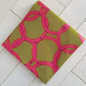 Super Wax Ankara Fabric - Pink Rings