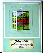 Truck  Window & words U get photo #2 L@@k@examples art impressions rubber stamps