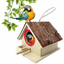 Wooden Birdhouse With Bark Birdhouses For Outdoors Hanging Humming Bird Houses