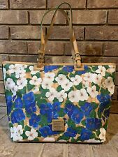 DOONEY & BOURKE PANSY FLOWER BIG BEAUTIFUL TOTE NEW
