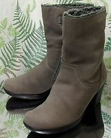 CLARKS BROWN LEATHER FASHION DRESS ANKLE BOOTS SHOES HEELS US WOMENS SZ 6.5 M