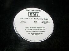 """AZ - HEY AZ w/SWV 12"""" Single NM EMI SPRO-11643 1997 *PROMO*"""