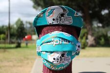 CYCLING CAP MIAMI DOLPHINS W/ FACE MASK 3 FOLD 100 % HANDMADE IN USA L M S