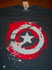 VINTAGE STYLE Marvel Comics CAPTAIN AMERICA SHIELD T-Shirt LARGE NEW Avengers