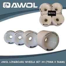AWOL SKATEBOARD WHEELS 75MM X 56MM (SET OF 4) 78A, 70% REBOUND
