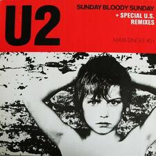 "U2 ~ Sunday Bloody Sunday ~ 1985 German Island label 3-track 12"" Maxi-Single~p/s"