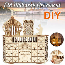 DIY Wood Ramadan Advent Calendar Eid Mubarak Countdown Calendar LED Decoration