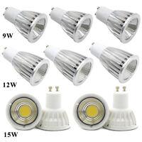 9W 12W 15W GU10 MR16 E27 GU5.3 LED COB Cree Bulbs Spotlight Lamp Warm Cool White