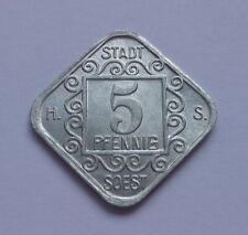 Notgeld: Stadt Soest 5 Pfennig 1920 / Germany, Soest 5 Pfennig 1920, War money