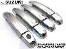SUZUKI SWIFT 2005-2010 ENJOLIVEURS CHROME COUVRES CACHE POIGNEES PORTES PORTIERE