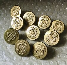 Antique Pitt & Co Gilt Brass Livery/Hunt Buttons Poss Oxford Hunt 'OH' MADDOX ST