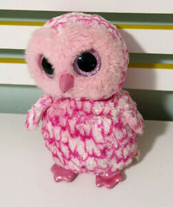 """Pinky"" Pink TY Beanie Owl Children's Soft Plush Toy 22cm Tall!"