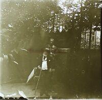 Coppia Ansières 1907 Foto Stereo PL58L30n8 Placca Lente Vintage