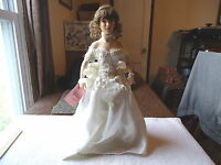 """Paradise Galleries 18"""" Porcelain Doll Patricia Rose """" BEAUTIFUL COLLECTIBLE DOLL"""