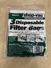 Shop Vac Type A Bags 3 Pack 906-67