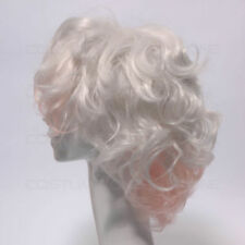 Perruques et toupets blancs moyens sans marque pour femme