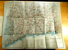 27x21 Road Map CONNECTICUT 1935 State Highway Dept. 40 Years Developement Book