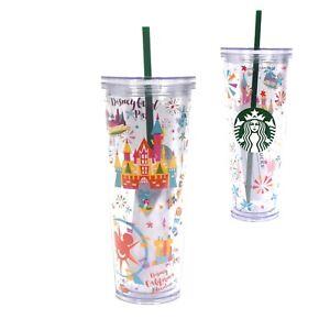 Disneyland Parks DCA Starbucks Venti Size 24 oz Cold To Go Tumbler