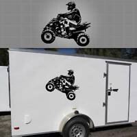 "ATV Wall Sticker, Quad Race Team Graphic, Trailer Decal - 24"" x 26"""