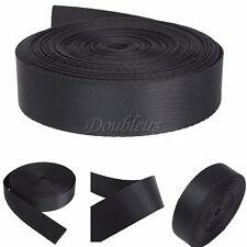 "1"" Inch 10 Yards Wide Black Nylon Heavy Webbing Strap Thick Knapsack Belt 10M"