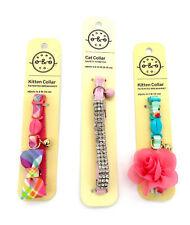 Pink Cat Collar with Bell, Adjustable, Breakaway