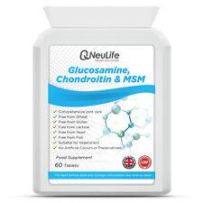 Glucosamine 500mg Chondroitin 100mg and MSM 100mg - 60 Tablets