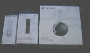 PS5 Accessory Bundle -Pulse 3D Headset, DualSense Charging Station, Media Remote