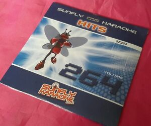 Karaoke CD+G disc,Sunfly Hits Vol 264, see Descript 15 tracks/arts,post free UK