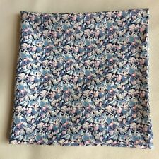 Silver flowers Liberty of London silk pocket square