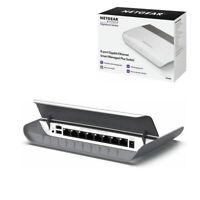 NETGEAR 8-Port GS908E Desktop Switch 2 USB Port Gigabit Ethernet White Splitter