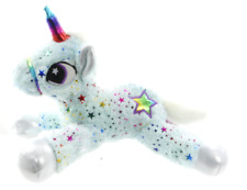 "NEW 13"" SPARKLE STAR UNICORN PLUSH SOFT TOYS CUDDLY HORSE TEDDY BLUE UNICORN"
