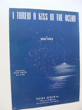 I Threw a Kiss in the Ocean WW2 1942 Blue Jackets by Irving Berlin Im-Ho cover