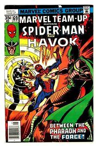 MARVEL TEAM-UP #69 (VF) SPIDER-MAN! HAVOK! John Byrne Art 1978